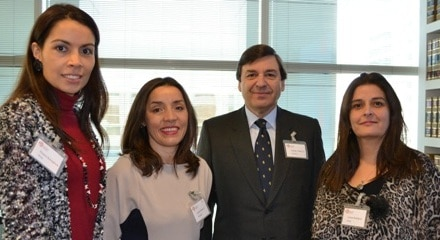 Dra. Roxana Buscaglione, Loreto Bresky, Rodrigo Velasco S. and Dra. Lorena Rodríguez.